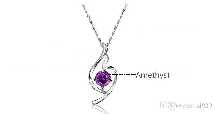 Europe And America Crystal Pendant Lucky Angel Necklace Soft Necklace Jewelry Valentine's Day Gift Birthday Send Girlfriend
