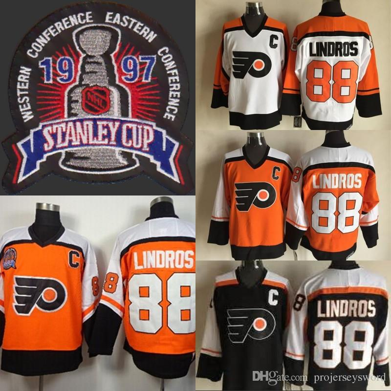 ... clearance stitched eric lindro 2017 mens 1997 stanley cup 88 eric  lindros jerseys philadelphia flyers ccm 3b2f0ae32