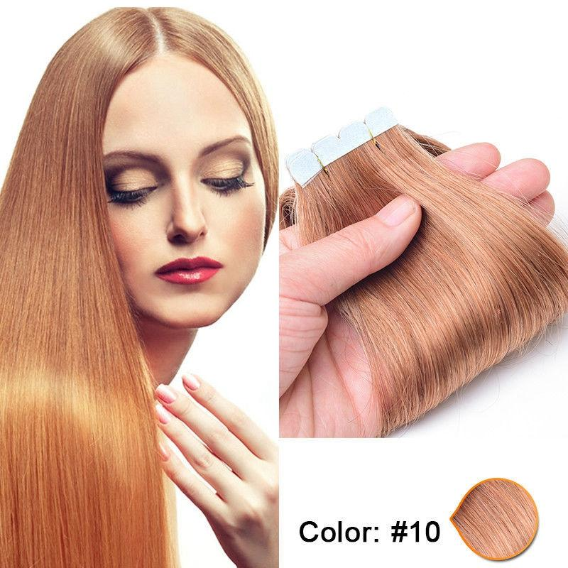 Mix 14inch To 24inch Tape In Skin Human Hair Extensionsremy Tape