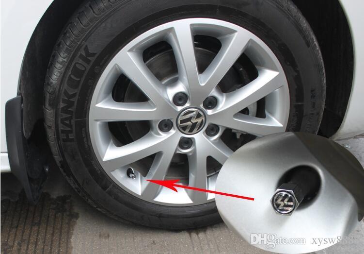 Envío gratis Theftproof de acero inoxidable 4 UNIDS Rueda de coche Válvulas de neumático Vástago del neumático Tapas de aire Cubierta hermética para BMW modificaciones-m
