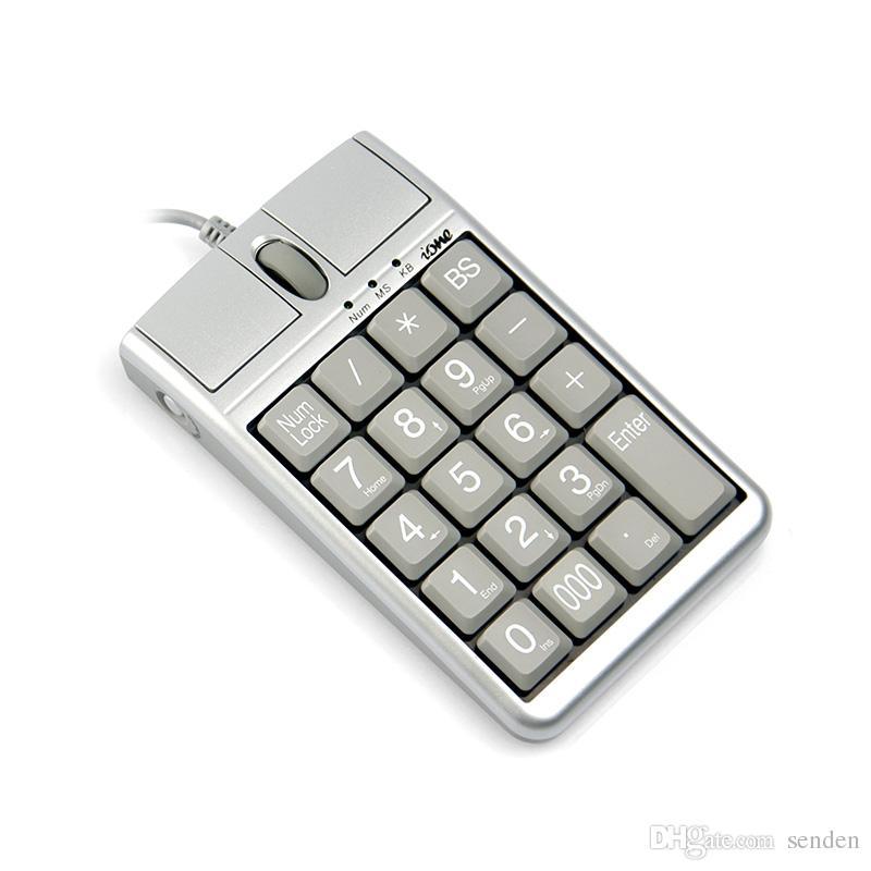 2 en 1 Teclado USB de ratón óptico de Iona Scorpius N4, 19 teclado numérico con Wired 19 con rueda de desplazamiento del mouse para la entrada de datos rápida USB Teclado de teclado Mouse