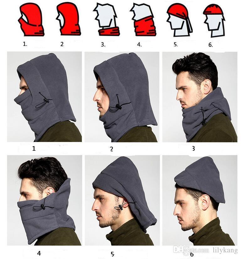 فصل الشتاء في الهواء الطلق ركوب الدراجات وجه دافئة ملثمين قبعة دافئة في فصل الشتاء قبعة قبعة الدراجات الرياح قبعة القبعات قبعات ايوا المشي رياضة