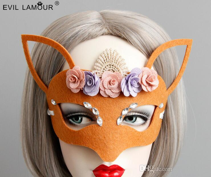 Masks whom for everybody in fox with flower modelling or special shape maske demon halloween terrorist masks fancy ball masquerade ball mask