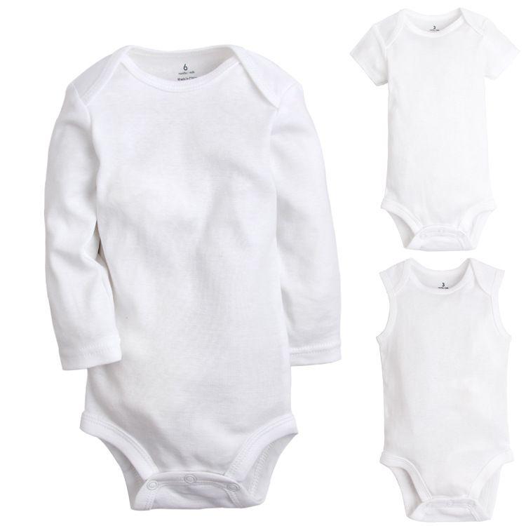 5576954be 2019 Baby Infant Rompers JumpSuit Summer Boys Girls Long Short ...