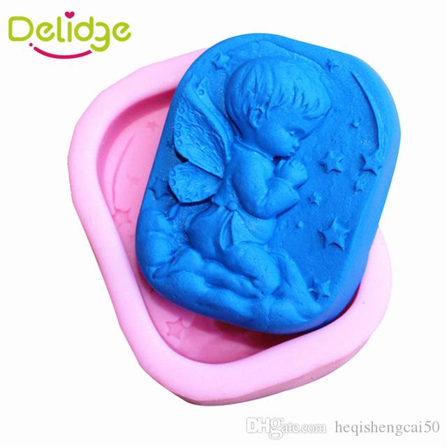 Delidge 10 pcs Cute Stars Angel Baby Soap Mold Silicone Bakeware Tools For Chocolate Candy Jelly 3D Cake Decoration Mould