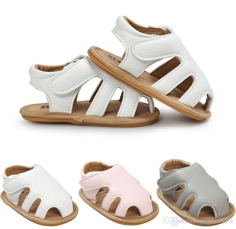 741e7fc16645f Baby Sandals Summer New Baby Boys Girls Hollow Soft Bottoms Sandals  Children Shoes Infant Toddler Kids Soft Leather Non Slip Sandals A0752  Online Toddler ...