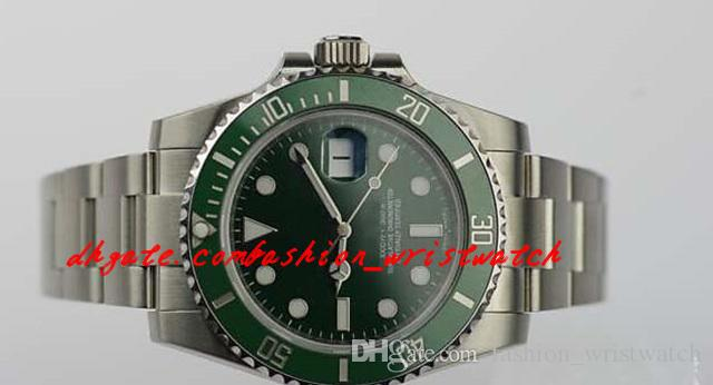 Luxury Watches Stainless Steel Bracelet Original Box 40mm 116610 CERAMIC GREEN DIAL/BEZEL NEW STYLE SERIAL Automatic movement MAN WATC