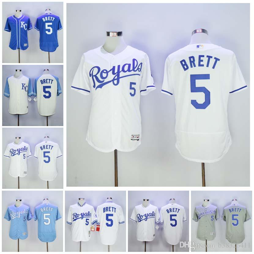 best sneakers 5a552 71e6b new zealand royals 5 george brett royal blue team logo ...
