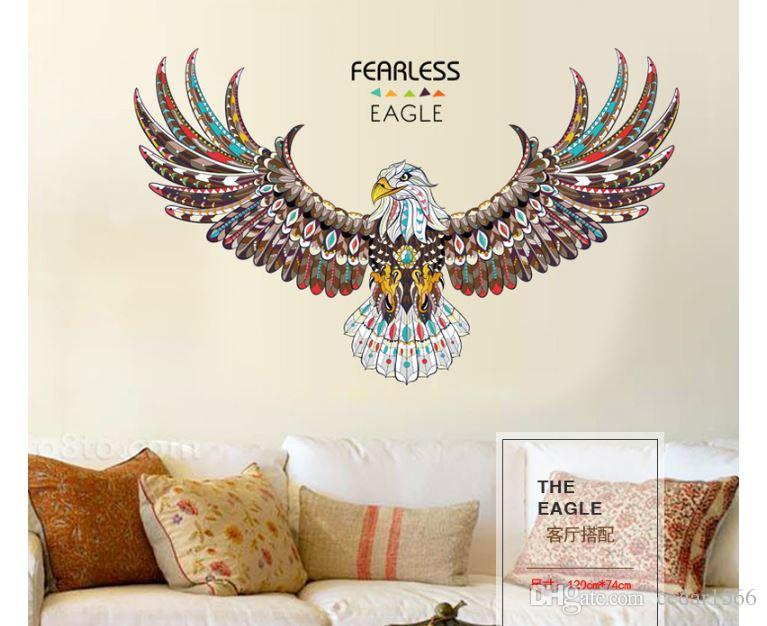 Fearless Eagle Animal Print Home Decoration Living Room Television Walls  Decal Wall Stickers Decorative Stickers Decorative Stickers For The Wall  From ... Part 88
