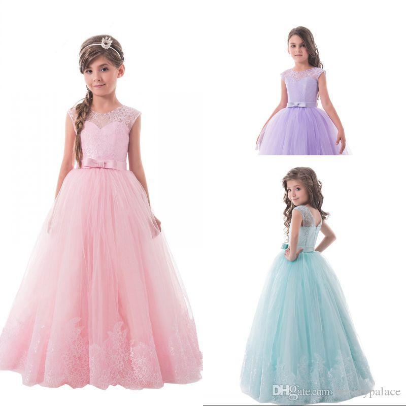 Blumenmädchenkleid Hochzeit Brautjungfernkleid Kinder Partykleider Festkleider