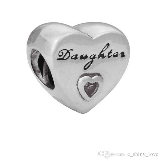 20 unids / lote Palabras de moda Corazón de aleación de diamantes de imitación Cuentas de metal para hacer joyas Cuentas de bricolaje para pulsera al por mayor a granel Precio bajo REB32