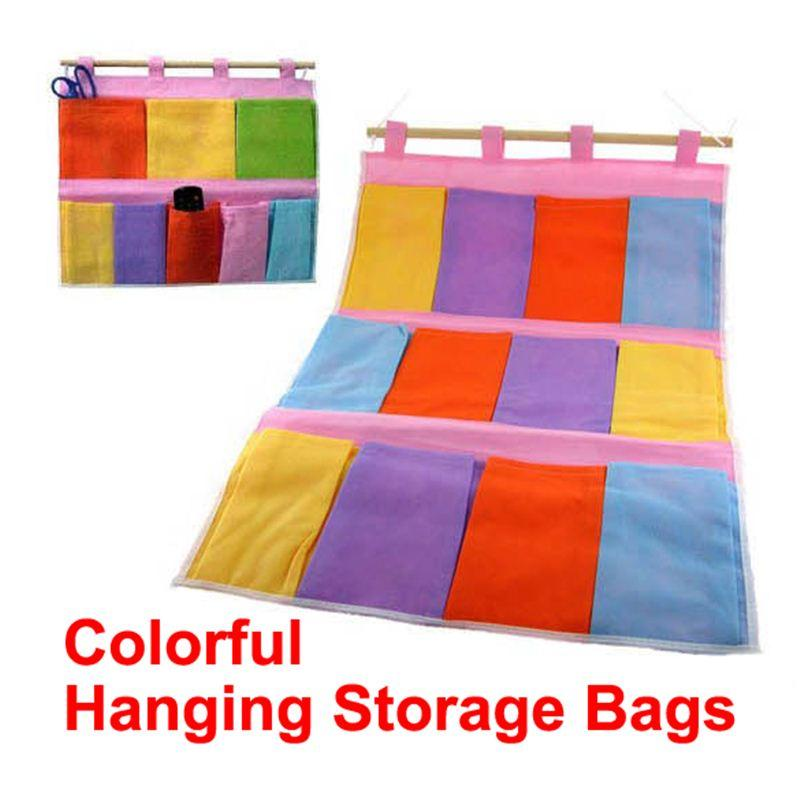 Wall Hanging Storage 2017 storage bag pocket wall hanging bags home organization gadget