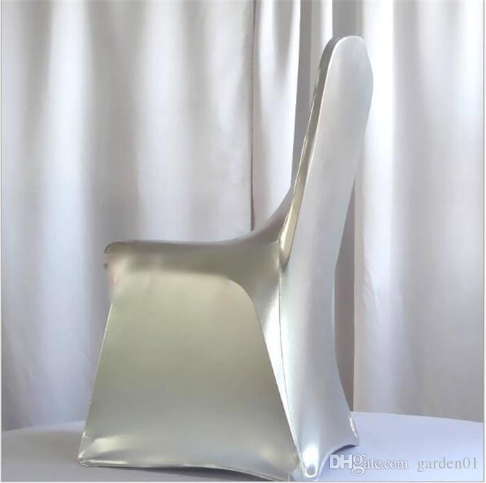 30 adet altın sandalye kapak için metalik altın ve gümüş takviyeli elastik ayaklar cep düğün G020
