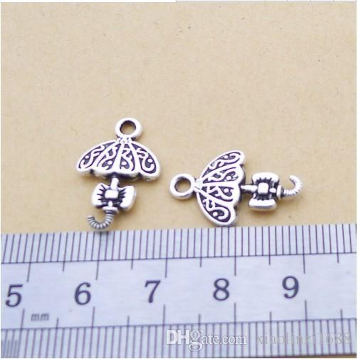 A1103 argent antique 80 / sac en alliage accessoires parapluie en gros, fabricants d'accessoires de bijoux bricolage direct 1,1 grammes
