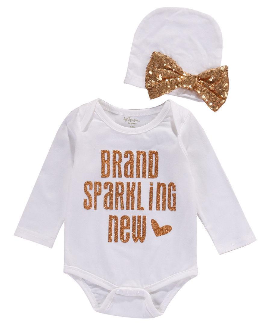 Wholesale Sequins Newborn Baby Girls Boys Bodysuit Clothes Cute