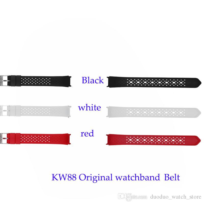 original kingwear kw88 pro smartwatch wrist strap watch strap red white black belt watchband