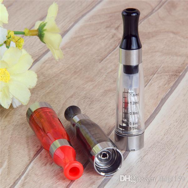 MOQ Högkvalitativ CE4 1.6ML Atomizer Cartomizer Electronic Cigarette 510 EGO-CE4 för E CIG ALL EGO-serie CE 5 CE6 Clearomizer