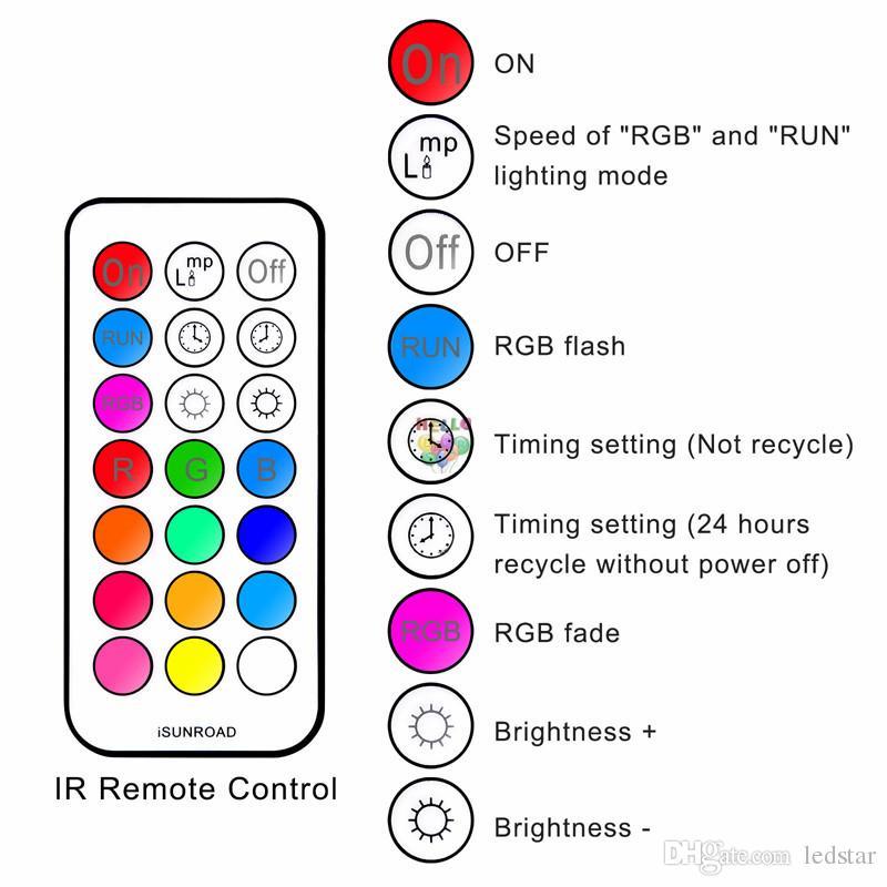 RGB RGBW Led Tavan Işık Yüksek Güç 10W Led Downlight Gömme lambalar + zamanlayıcı uzaktan kumanda + led sürücü