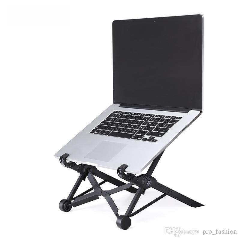2018 Foldable Stand Laptop Desk Table Pc Plastic Cooling Rack Protection Of Cervical Vertebra Enhanced Nylon Support 11 6inch Or Larger Size From