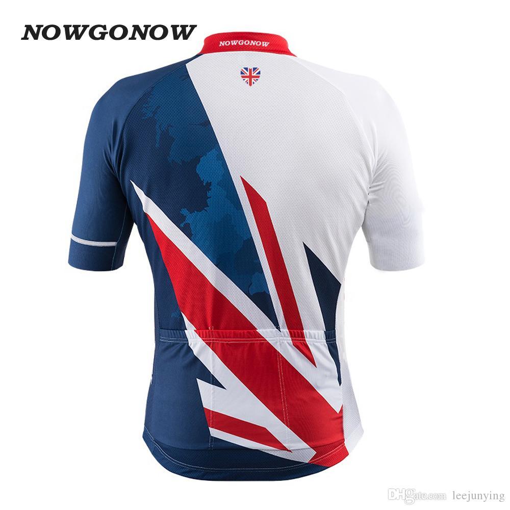 도매 사용자 정의 2017 자전거 저지 GB 영국 영국 영국의 클래식 의류 자전거 mtb 도로 maillot 로파 ciclismo 착용 NOWGONOW