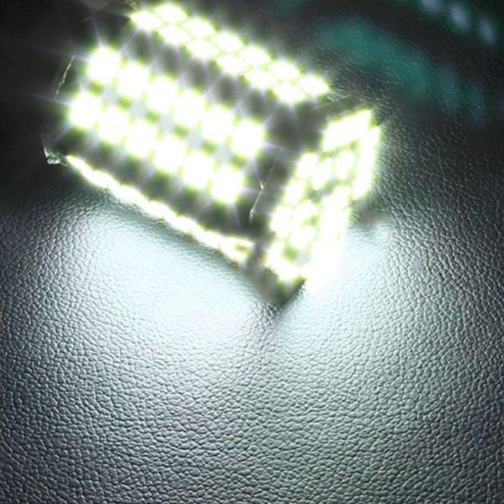 슈퍼 화이트 1156 BA15S P21W 크세논 LED 가벼운 80SMD 자동 자동차 제논 램프 꼬리 신호 반전 전구 라이트