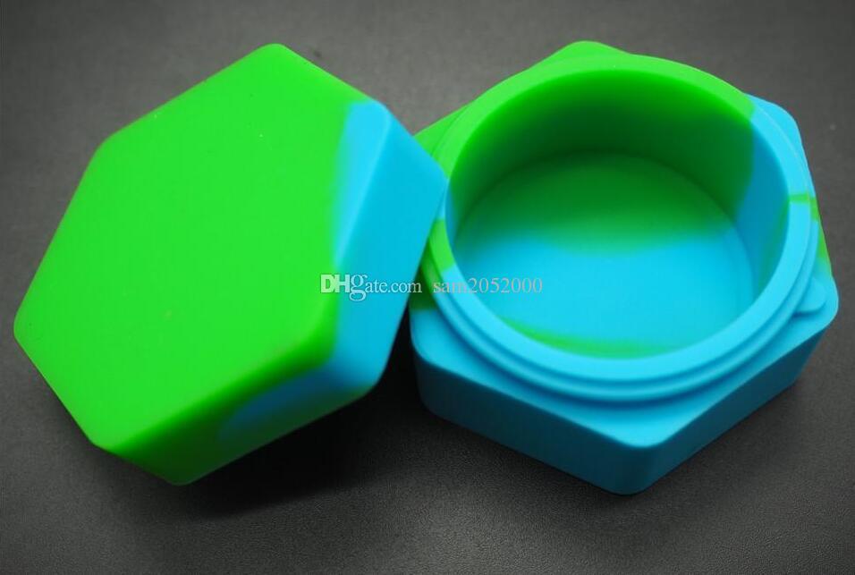 Altıgen tasarım kullanımlık silikon mum kutusu Balmumu Konteynerler Balmumu için Silikon konteyner silikon contianer