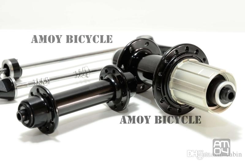 Powerway R13 road bike hub V brake bearing bicycle hubs super light with quick release skewers BLACK RED color