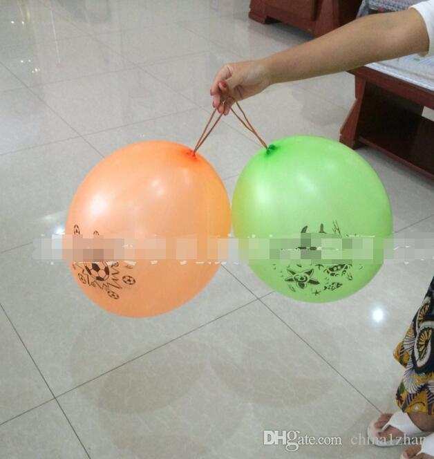 Elastic Punch Balloons Bounce Floating Balloon Christmas Party Toys Games Toy Colorful Latex Material DH7