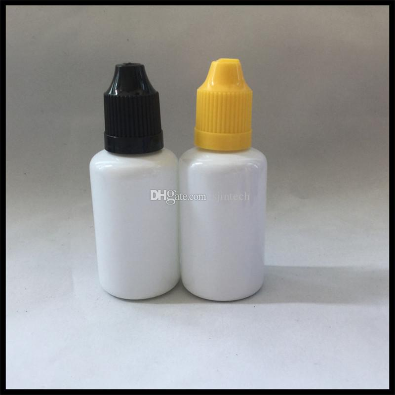 30ml White PET E Liquid Bottles With Childproof Cap And Long Thin Tip Plastic Dropper Bottle For Ejuice Oil