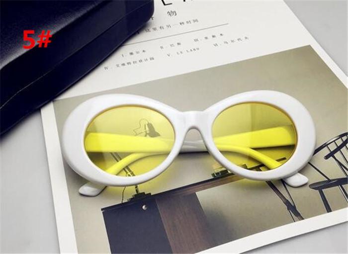 300 stücke 19 farben NIRVANA Kurt Cobain Sonnenbrille Retro Vintage Oval sonnenbrille Männer Frauen Punk Rock Shades runde Eyewear R006