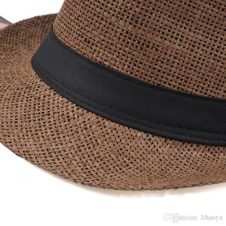 Vendita calda 7-color moda da donna con cappuccio paglia da donna morbido fedora panama cappello jazz cappello m014