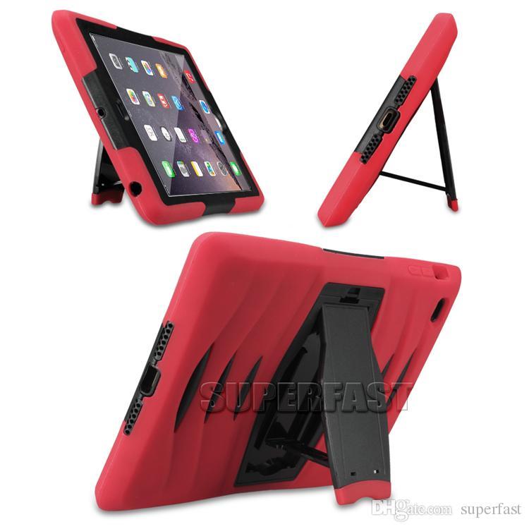 Caso defensor tablet para ipad mini-4 armadura híbrido bumper kickstand caso robusto protetora case para galaxy tab com pacote de opp