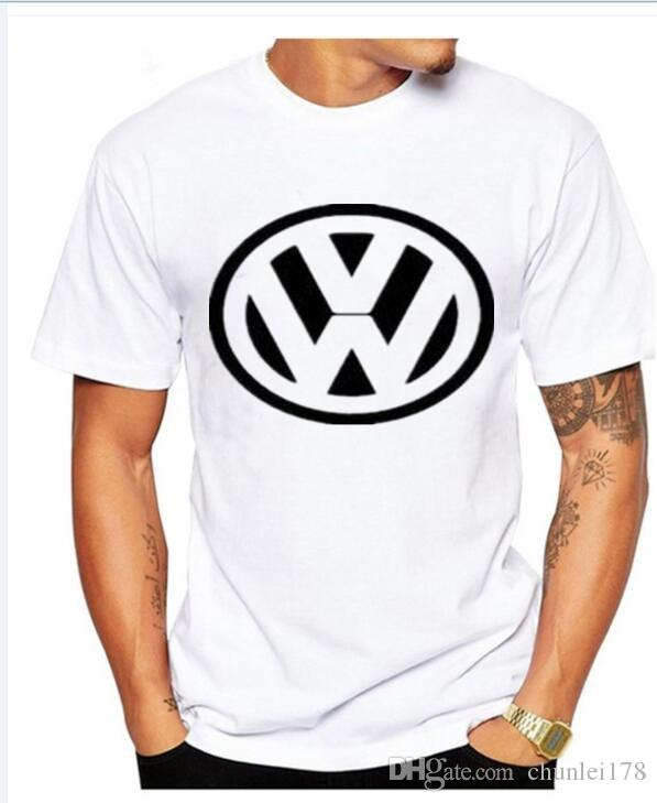 Mens Volkswagen Logo Black Car Sticker Free Vector T Shirt Short Sleeve Tee Crew Neck Cotton Tops