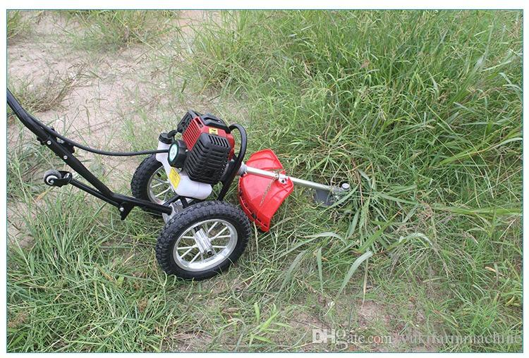 Hand push lawn mower 4-stroke engine grass cutting machine mini power weeder wheat rice cutter harvester machine agricultural