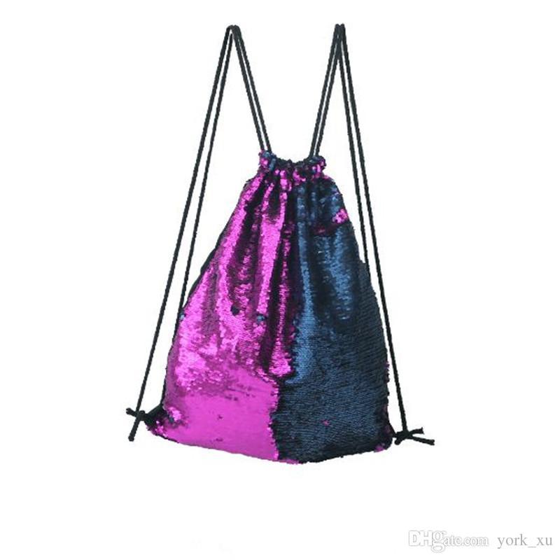 Sirène Sequin sac à dos femme sac à dos sacs Sacs à cordon Sac à dos en plein air Glitter Sports Shoulder Sac de voyage en plein air out269