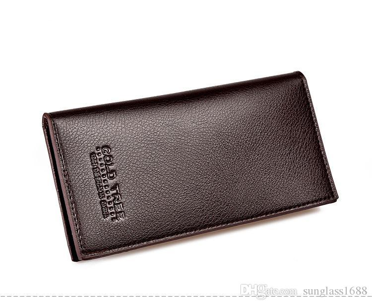 3 Farbe neue Mode Männer lange Simulation Leder Geldbörse Brieftasche Männer Freizeit Anzug Taschen PU Brieftaschen