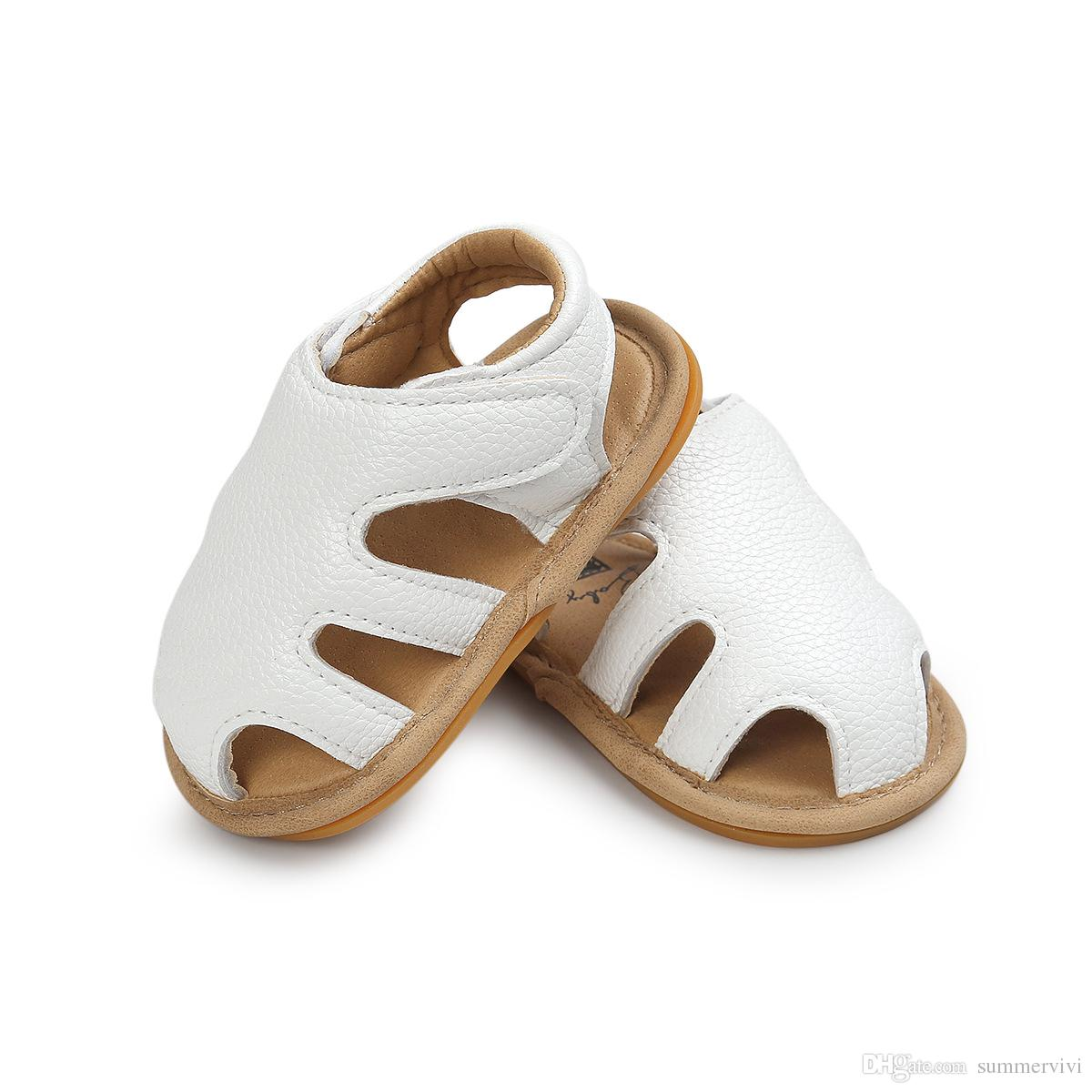 Baby sandals summer new baby boys girls hollow soft bottoms sandals children shoes Infant Toddler kids soft leather non-slip sandals A0752