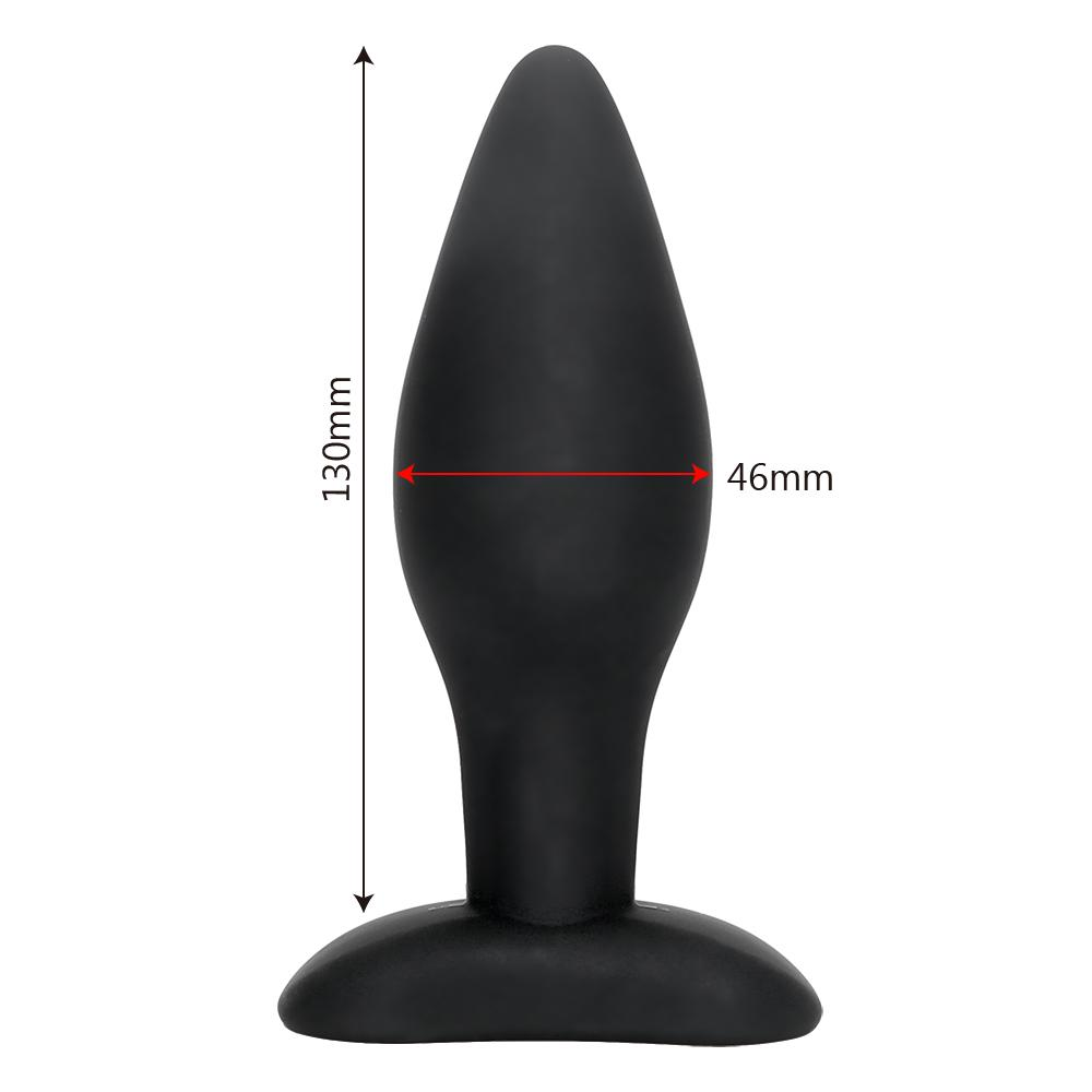 IKOKY Big Butt Plug Plug anale Giocattoli erotici Massaggiatore della prostata Prodotti adulti Silicone Nero Giocattoli del sesso anale uomini Donne Gay q170718