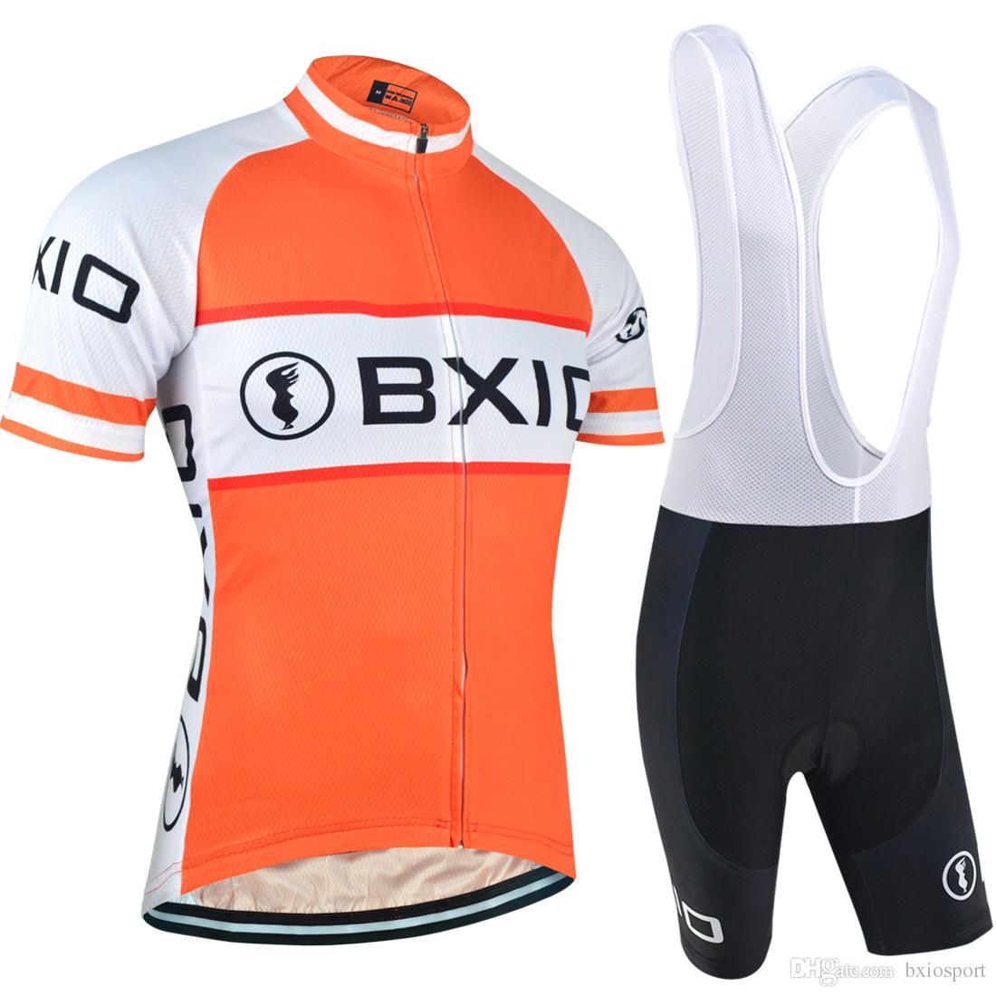 BXIO Brand Cycling Jerseys Orange Cycle Wear Sets Road Cycling Shorts Suits  Unisex Fashion Short Sleeve Lycra Cycling Clothing BX 0209O014 Merino  Cycling ... 99c26345e