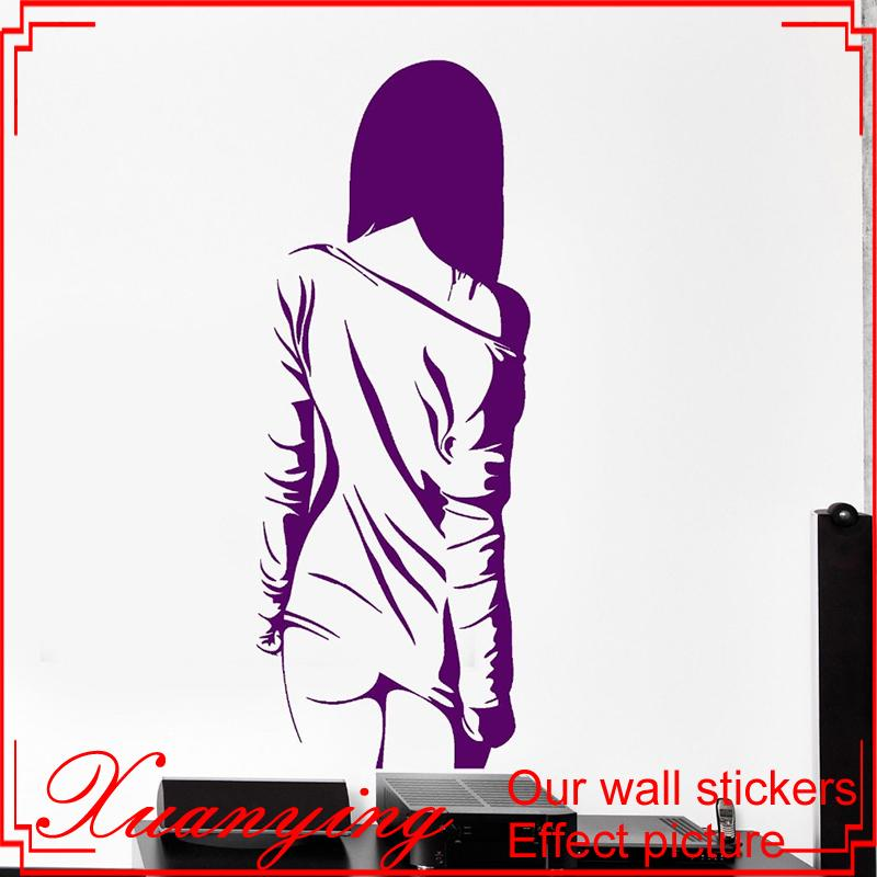 Home Decoration Wall Vinyl Decal Manga Sexy Teen Girl Naked Cool