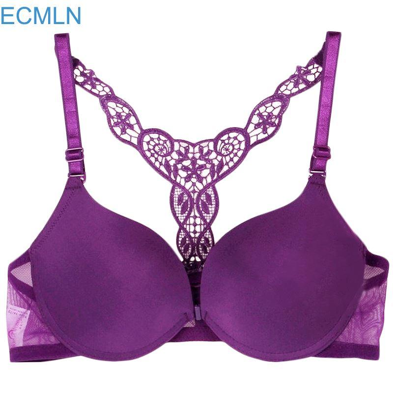 79d602643aeae Online Cheap Womens Sexy Front Closure Lace Racer Back Push Up Seamless Women S  Bra Racerback Bra Underwear Qs By Colin scot