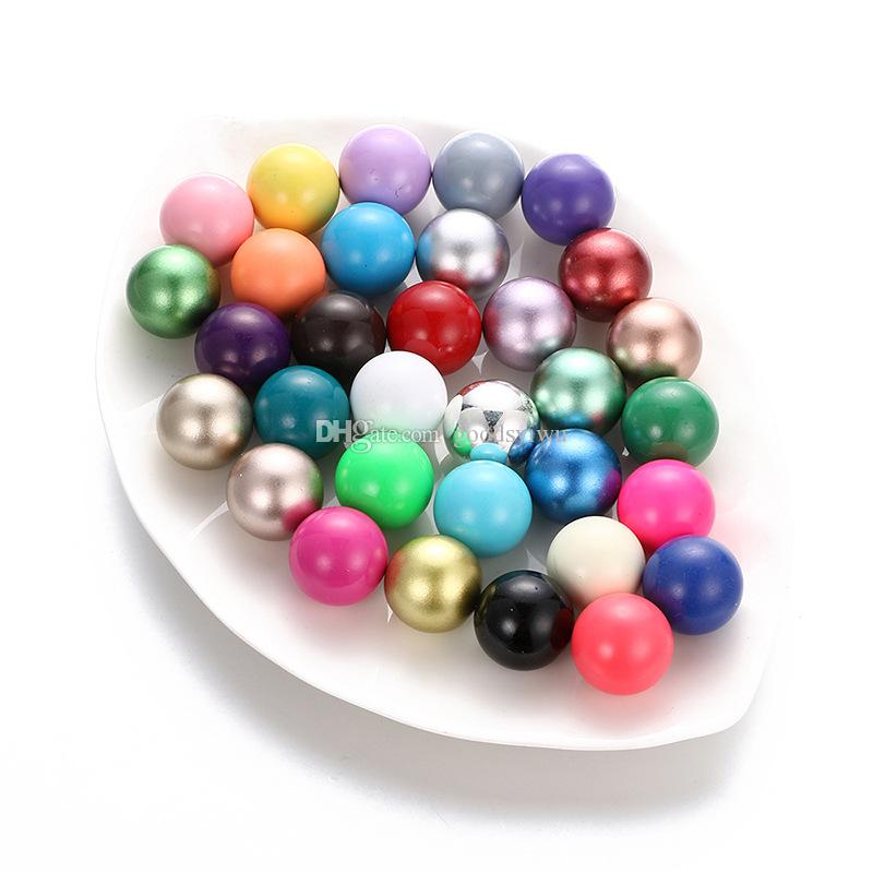 Multicolor 16mm Chime Ball Copper Antenatal Training Bell Beads Metal Materials for Pendants Maternity Pregnant Necklace