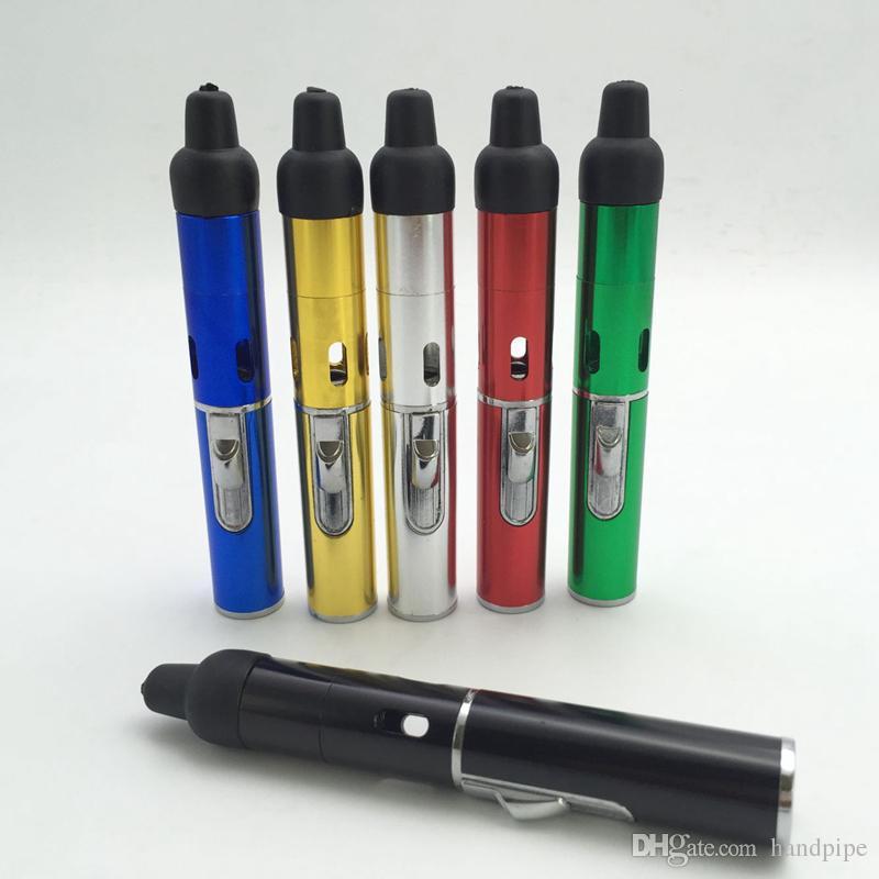 Butane Smoke Torch Jet Flame Lighter Pen Click N Vape sneak A vape sneak a toke smoking metal pipe vaporizer pen