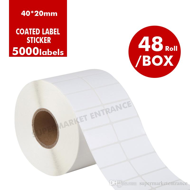 2018 white printable barcode label adhesive stickers for printingpre printed labels plain white color oem coated sticker from supermarketentrance