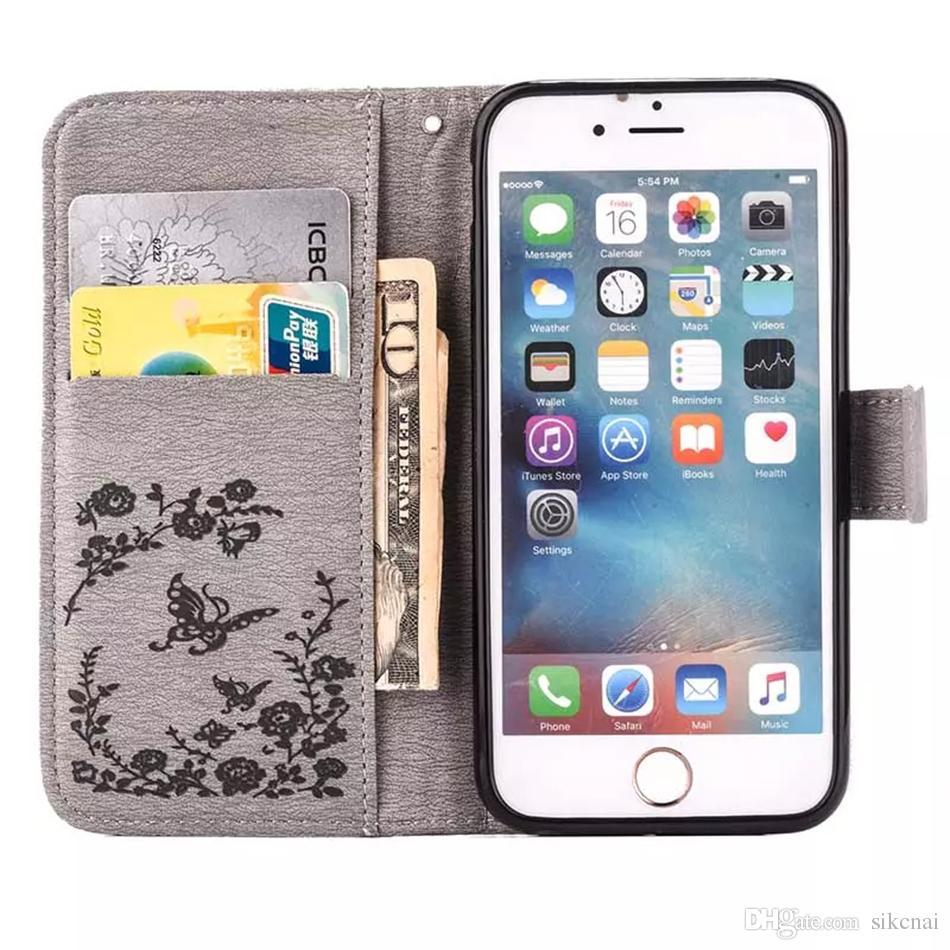 6 S Kılıfları iPhone 6 S Artı Rhinestone Kılıf iphone 5 5 S SE kapak Bling Koruyucu iPhone 7 için Artı Cep Telefonu Kabuk Çanta Cüzdan Tasarım