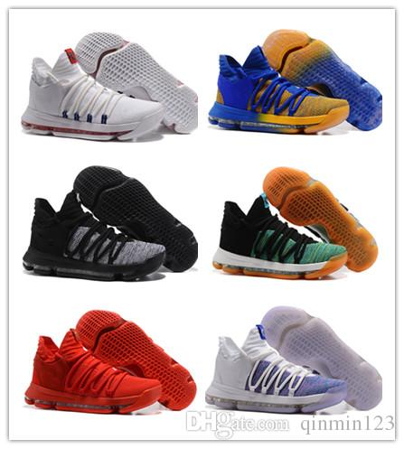 093357a8ac8b Wholesale New KD10 Oreo Kevin Durant 10s KD 10 X Bird Of Para Men Basketball  Shoes Sports Sneakers 2017 Top Quality Size 7 12 Basketball Shoes For Sale  ...