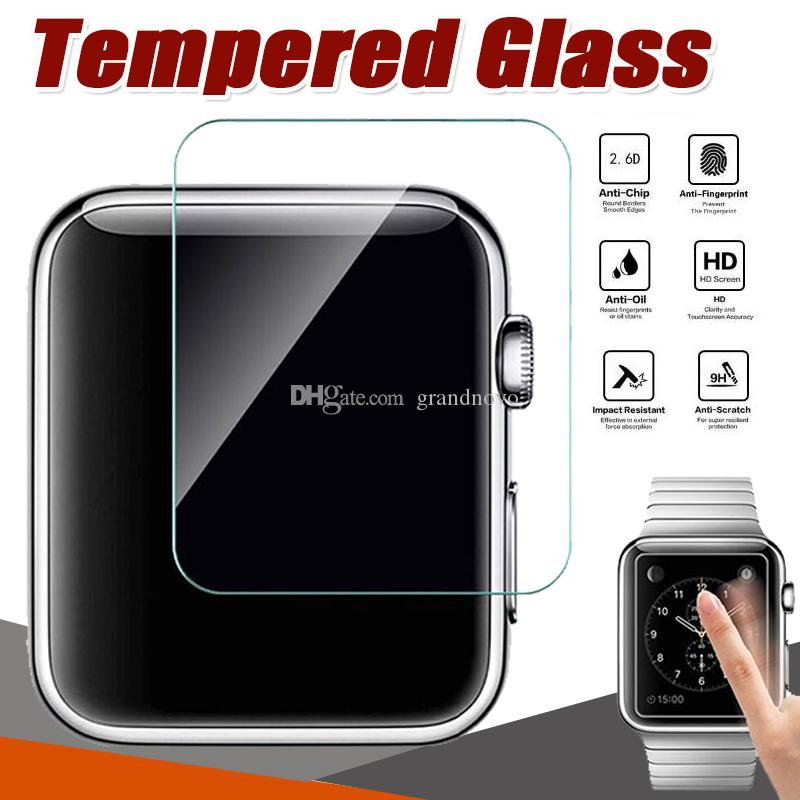 Tempered Glass 9H Premium Explosion Proof Guard Anti-Scratch Film Screen Protector for Apple Watch Series 4 3 2 1 40mm 44mm 38mm 42mm Sport