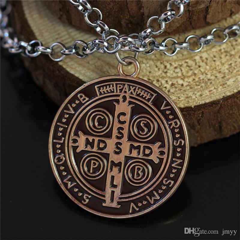 Movie Constantine Necklaces & Pendants Antique Bronze Alloy Chain Vintage Necklace Jewelry For Unisex Gift Hot Sale