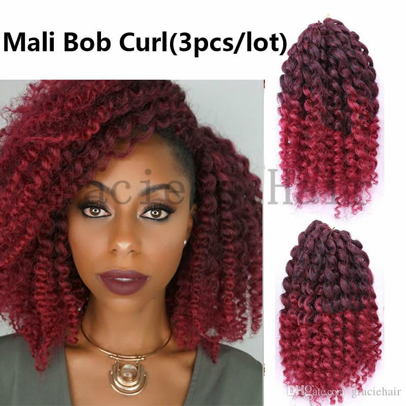 2018 8inch ombre burgundy synthetic hair extensions ombre bug mali 2018 8inch ombre burgundy synthetic hair extensions ombre bug mali bob crochet braids hair water wave mali bob havana mambo twist crochet braid from ccuart Gallery