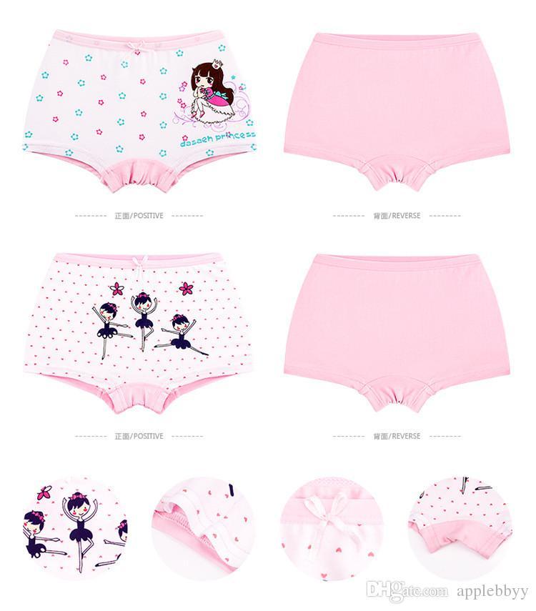 Sevimli tavşan prenses çocuk iç çamaşırı pamuk karikatür baskı bebek bebek düz pantolon kız iç çamaşırı külot 3 stil 6 boyutu
